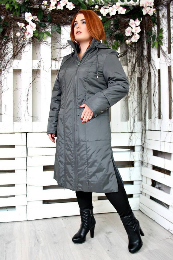 Пальто демисезонное Аврора темно серый