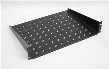 """Полиця 19"""" 2U глуб.350мм.грузопод.25кГ, чорний колір, фото 2"""