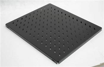 "Полка ZPAS 19"" 1U глибина 650мм, навантаження 100кг, чорна, фото 2"
