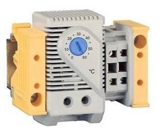 Термостат розмикаючий ZPAS 220VAC, 6А, на DIN рейці для обігрівача, фото 2