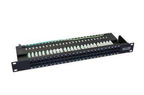 Телефонна ZPAS патч-панель кат.3 UTP 1U 50 портів