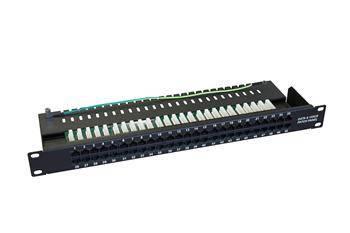 Телефонна ZPAS патч-панель кат.3 UTP 1U 50 портів, фото 2