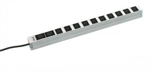 Блок розеток ZPAS 0U 560mm, 16A, 10xC13, 2xC19, кабель 5м, без вилки, фото 2