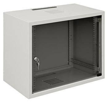 """19"""" шафа 12U, глиб. 600 мм., сірий колір, фото 2"""