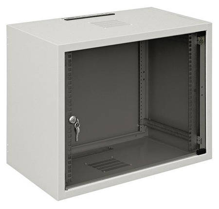 "Шафа ZPAS 19"" 12U 600x400, сткл.двері, 30kg max, сіра, фото 2"