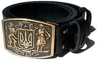 Мужской ремень с пряжкой Герб Patriot Collection Pc001 ДхШ: 125х3,8 см, черный