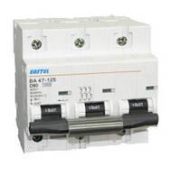 Автоматический выключатель Eastel ВА47-63 (6kA) 25А, 3P, х-ка C