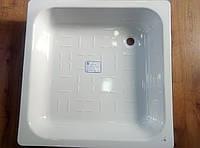 Поддон душевой стальной эмолированный 90*90 квадрат., фото 1
