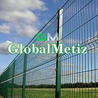 Секционный забор 1,5х2,5 м, 3/4 мм секционное сварное ограждение в полимере