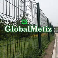Секционный забор 1.75х2,5 м, 3/4 мм секционное сварное ограждение в полимере