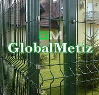 Секционный забор 2.05х2,5 м, 3/4 мм секционное сварное ограждение в полимере