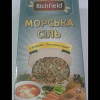 """Морская соль """"Richfield"""" с приправой для первых блюд  200 гр."""