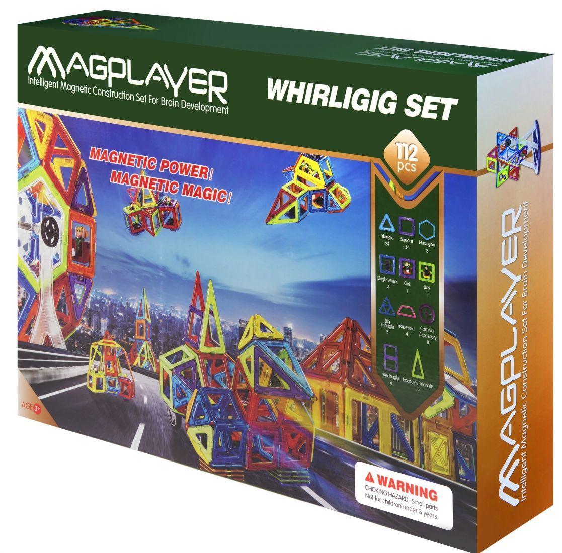 Магнитный детский конструктор MagPlayer MPB-112