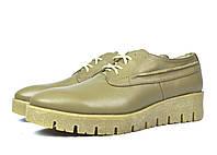 Стильные бежевые кожаные женские туфли Ari Andano ( новинка весна, осень, лето )