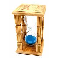 Часы песочные в бамбуке Париж 15 мин (14,5х9х9 см)