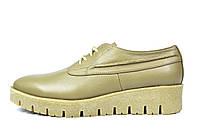 Стильные бежевые кожаные женские туфли Ari Andano ( новинка весна, осень, лето ), фото 1