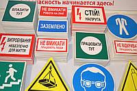 Предписывающие и указатели знаки безопасности