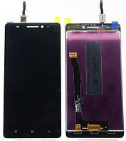 Дисплей Lenovo A7000 леново с тачскрином в сборе, цвет черный.