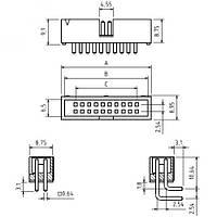 Разъем IDC BH-14 BM
