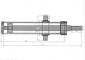 Гидроцилиндр поворота колёс Львовский погрузчик 4085-3429010-10. , фото 3