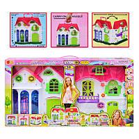 Домик 3351для куклы, 38 деталей,свет, мебель