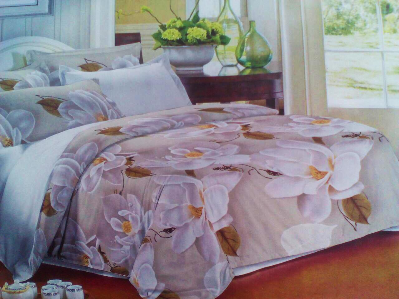 Комплект постельного белья от украинского производителя Polycotton Двуспальный T-90906
