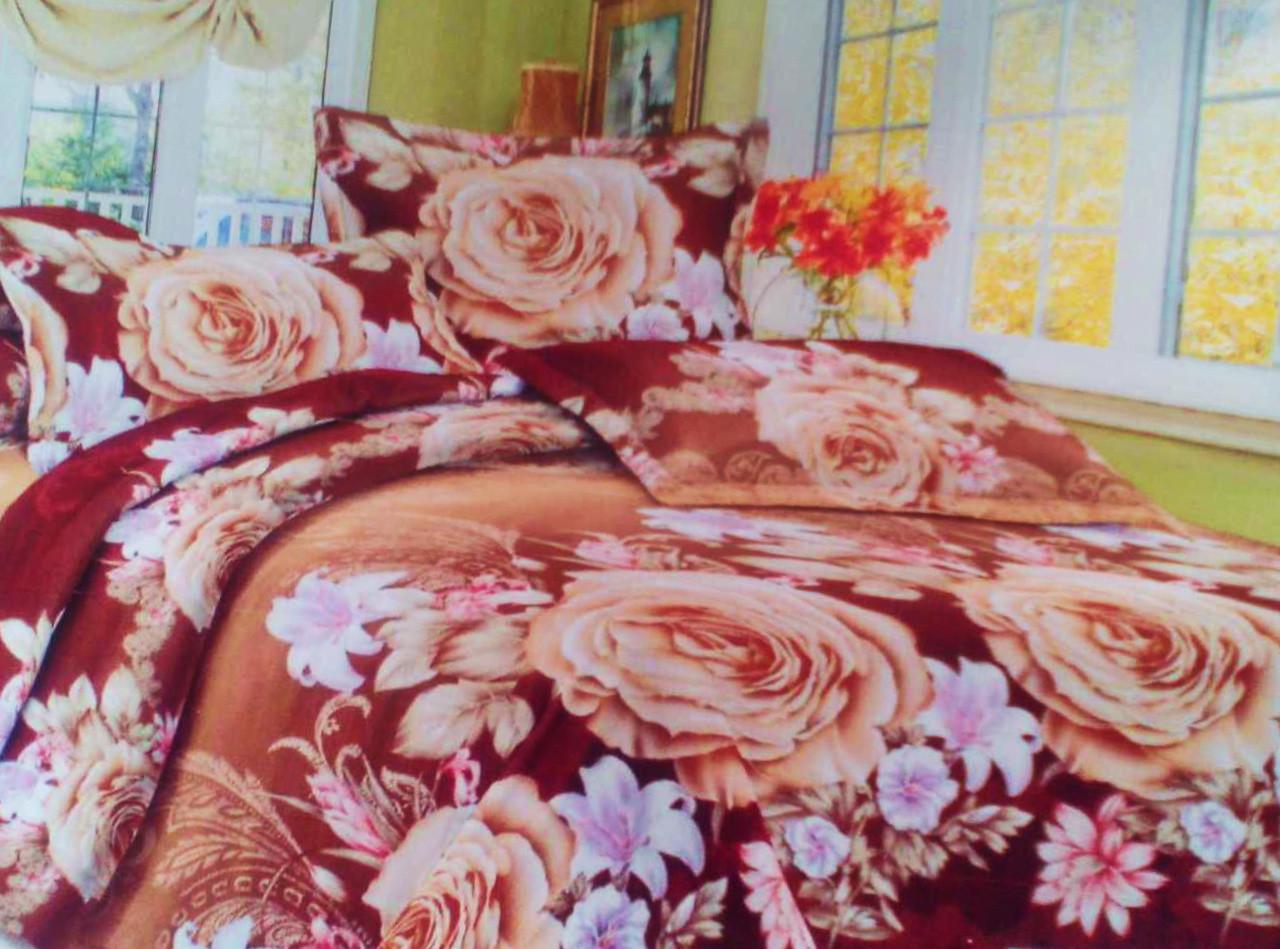 Комплект постельного белья от украинского производителя Polycotton Двуспальный T-90912