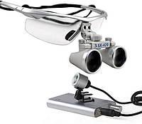 Бинокулярные очки (3.5 Х 420) с LED подсветкой и внешним аккумулятором