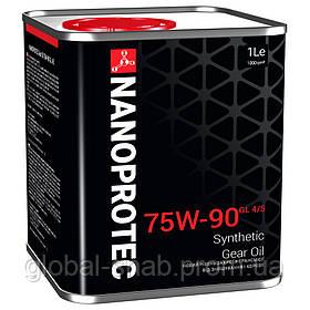 Синтетическое трансмиссионное масло для механических КПП NANOPROTEC GEAR OIL 75W-90 GL-4/5