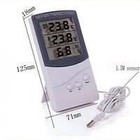 Цифровой термометр гигрометр TA 318 + выносной датчик температуры