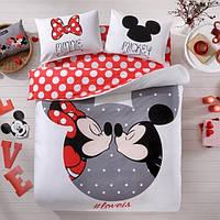Детское постельное бельё евро ТАС Mickey & Minnie Love Is
