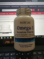 Омега-3 Premium Fish Oil Madre Labs Omega 3 100 Капсул по 1 г.