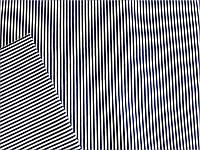 Поплин - стрейч Полоса (белый, т. синий) (арт. 12401) отрез 0,7 м
