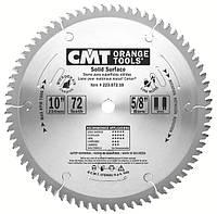 Пила дисковая 250 х 30 мм, Z 72 по искусственному камню и твердым пластикам CMT