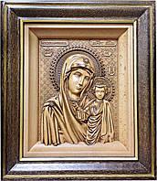 Ікона Казанської Божої Матері (бук), фото 1