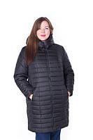 Женская стильная зимняя куртка Флави черный (54-64)