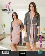 Комплект халат с рубашкой NEBULA 808K