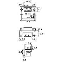 Разъёмы и соединители DRB-9MB BM