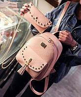 Женский стильный наборчик: рюкзак+кошелек (3 цвета), фото 1