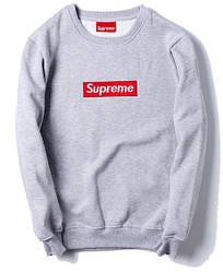 Свитшот Supreme Grey (ориг.бирка)