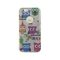 Чехол силиконовый Mask Collection Серебряные совы для iPhone 6s
