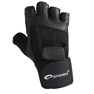 Мужские перчатки для фитнеса Spokey TORO (original), спортивные атлетические тренировочные