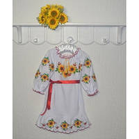 Платье вышиванка для девочки Соняхи