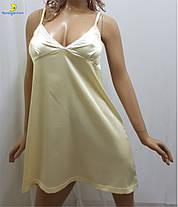 Ночная рубашка, ночнушка, сорочка атласная, р-ры от 44 до 50, Украина, фото 3