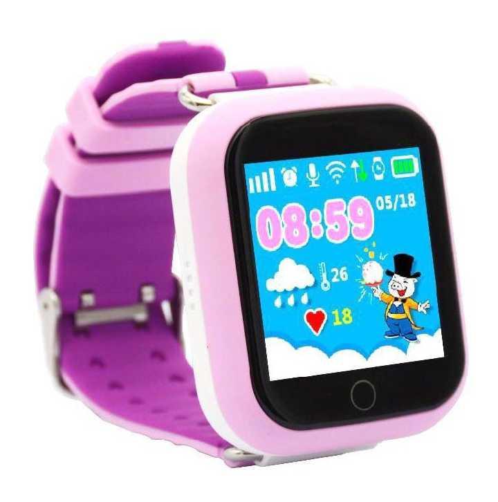 Детские умные часы с GPS трэкером Smart Baby Watch Q100 розовые