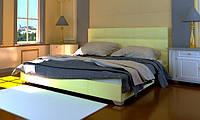 Кровать Гера в обивке с мягким изголовьем односпальная