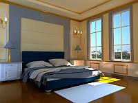 Кровать Гера с подъемным механизмом с мягким изголовьем односпальная
