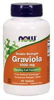 Гравиола Гуанабана Двойная сила 1000 мг 90 таб онкопротектор для иммунитета Now Foods USA