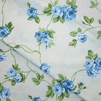 Ткань в стиле прованс salvio розы голубые испания