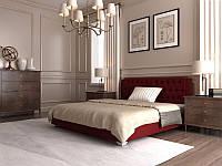 Кровать Тиффани в обивке с мягким изголовьем полуторная